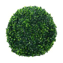 Planta Decorativa Esfera Hojas Buxus Artificial Mediana 31cm