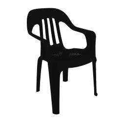 Silla de Plástico Pasadena Color Negro