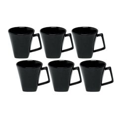 Set x 6 Jarros Mug 220 cc Mini Quartier Biona by Oxford Ceramica Negro 1993978
