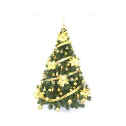Arbol de Navidad Premium 1.80 Mts con Adornos Oro