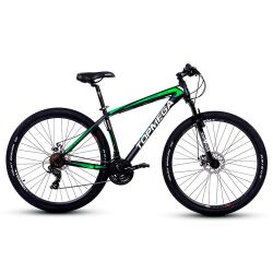 Bicicleta TopMega Mustang R29 21V Negra y Verde