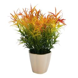 Planta Decorativa Helecho Multicolor Artificial en Maceta 25 cm