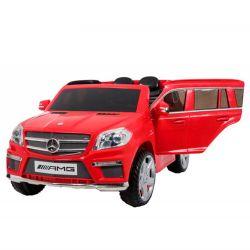 Auto a Bateria Camioneta Mercedes Benz GL63 AMG 12V Doble Asiento de Cuero 3028 Rojo