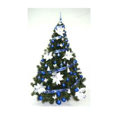 Arbol de Navidad Premium 180 Mts con Adornos Azul