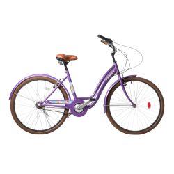 Bicicleta Paseo TopMega Mujer Dama Violeta Rodado 26 Flower